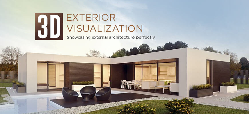 3D properties exterior visualization