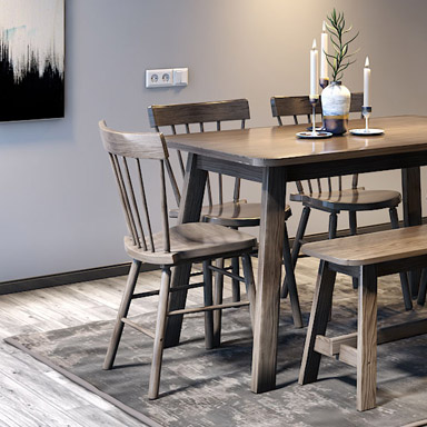 Dining room furniture 3d model
