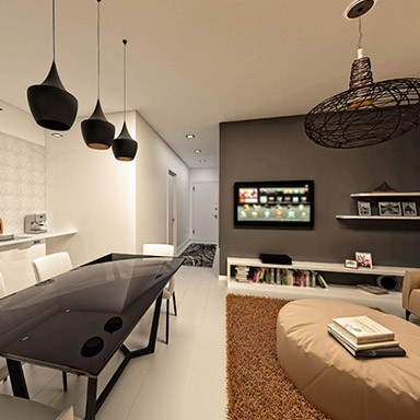 3D interior design living room
